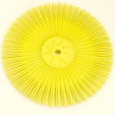 Cepillo disco Nylon amarillo M12